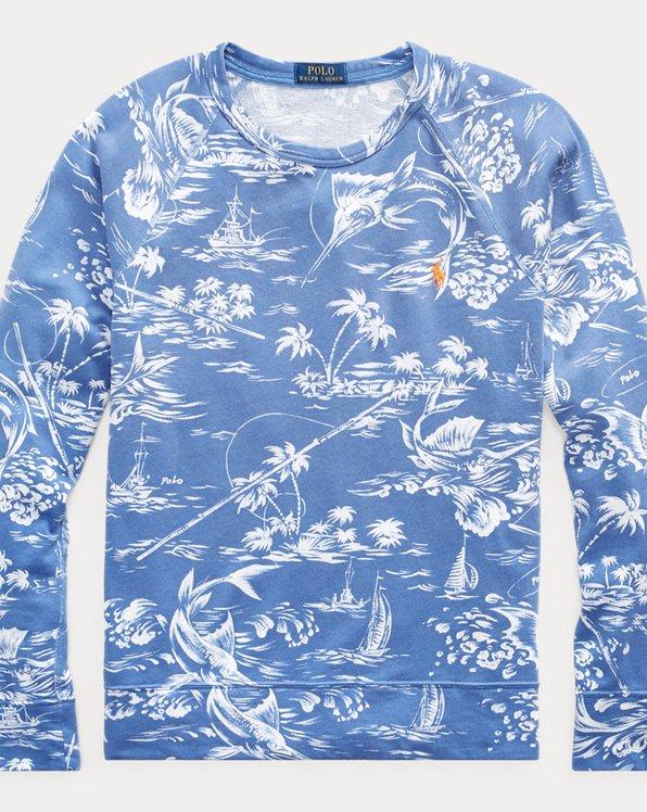Terry-Sweatshirt mit Speerfisch