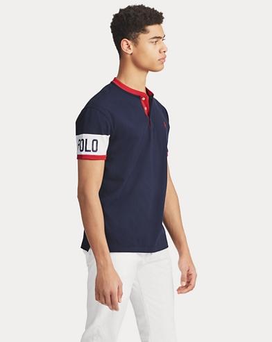 Maglietta serafino Classic-Fit in cotone