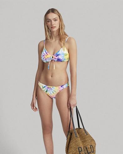 Tie-Dye O-Ring Bikini Top