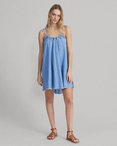 Chambray Cover-Up Dress