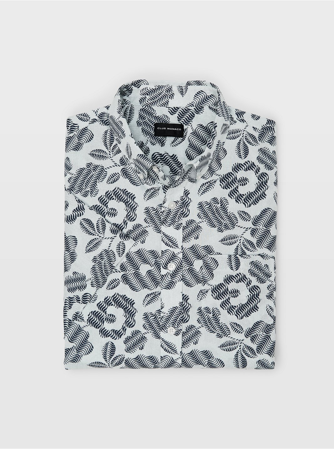 Slim Abstract Floral Shirt