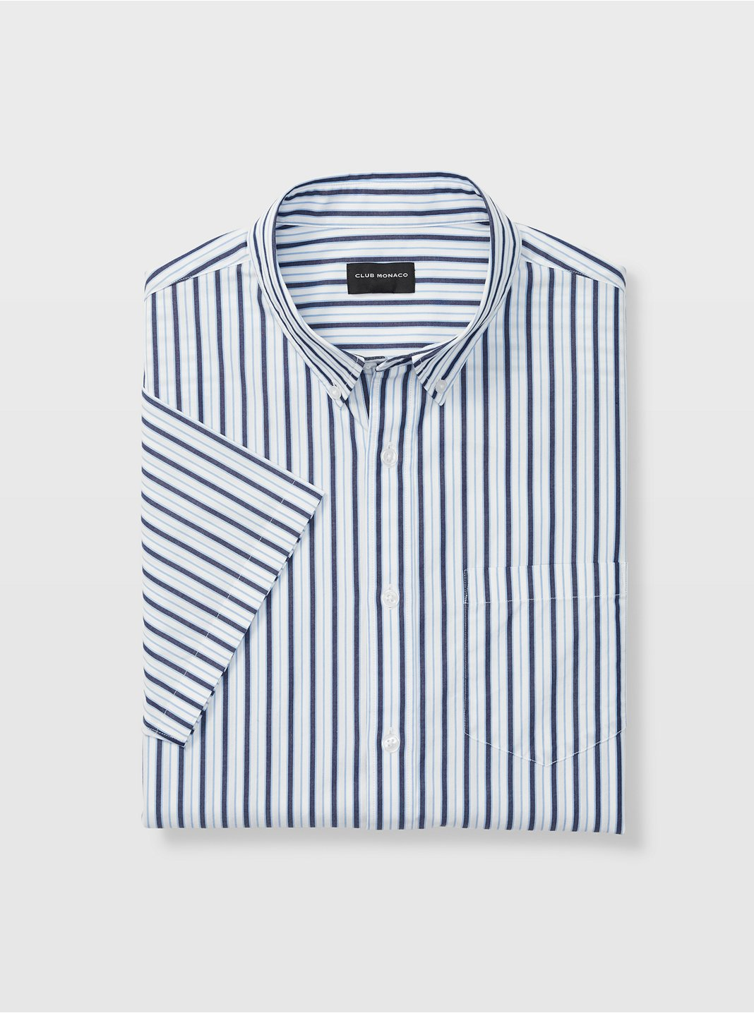 Slim Stripe Short-Sleeve Shirt