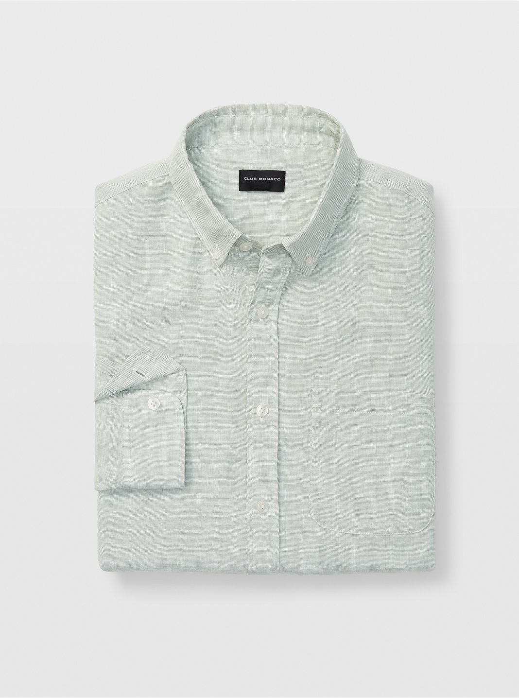 Slim Linen End-on-End Shirt