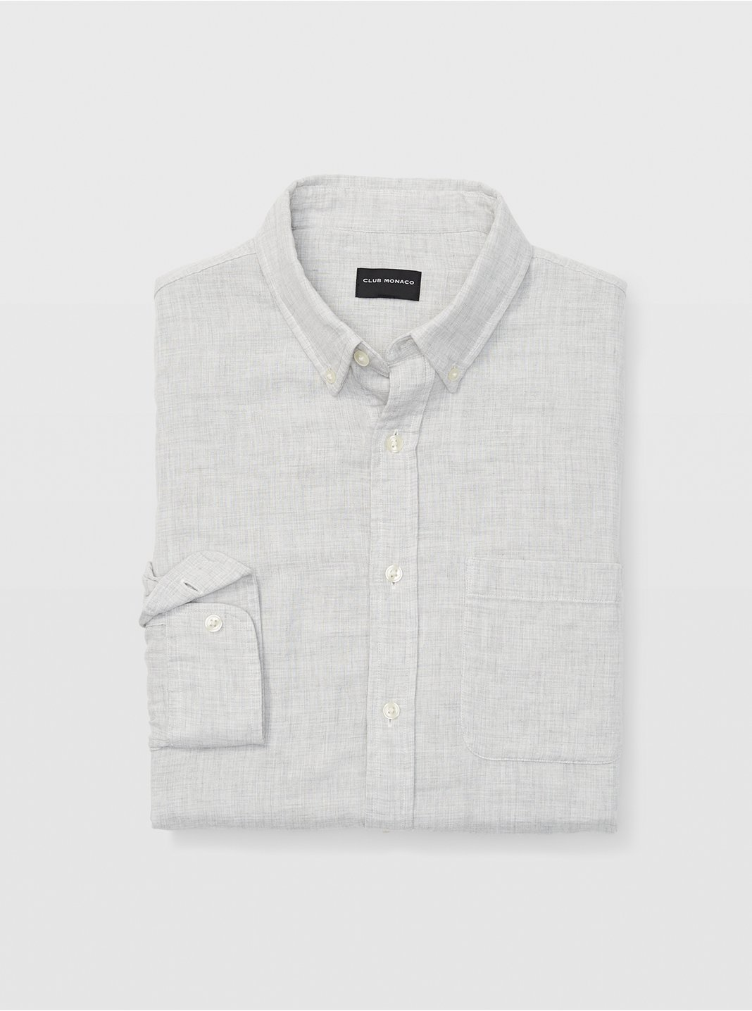 Slim Solid Double-Faced Shirt
