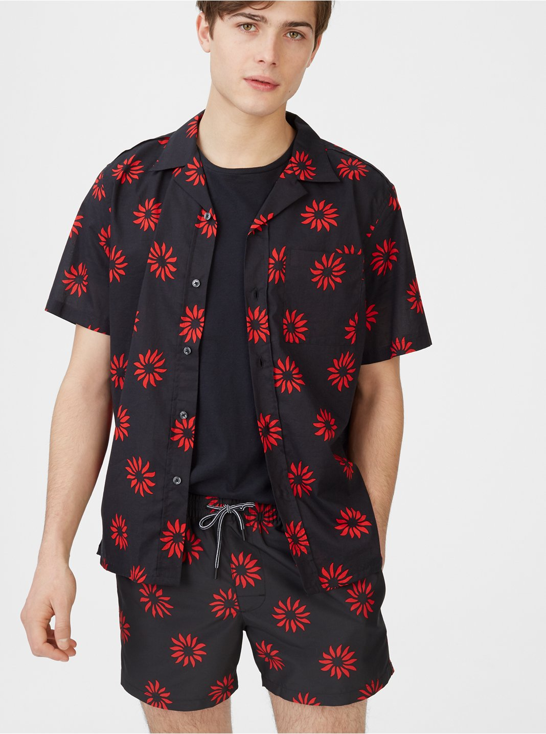Camp Collar Pinwheel Shirt