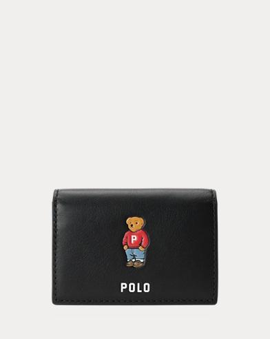 Porte-cartes Polo Bear en cuir