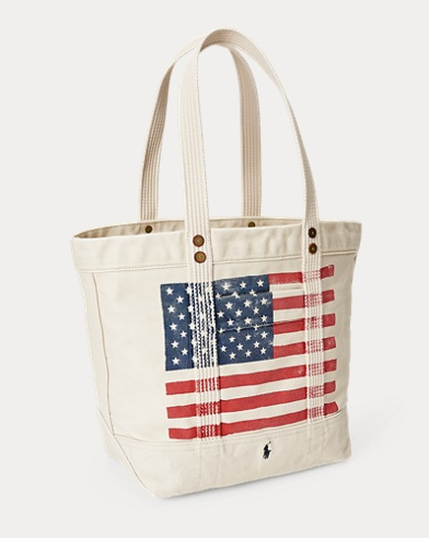 105a1a4f2946 Distressed Flag Canvas Tote. Take ...