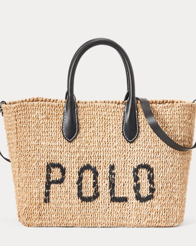 61e91e37bd24 Polo Abaca Straw Crossbody