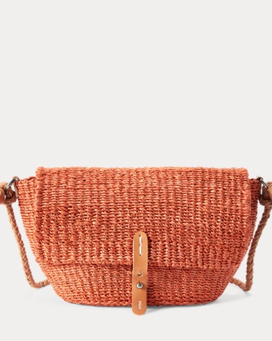 Abaca Straw Crossbody Bag