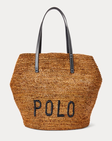 Polo Raffia Large Tote Bag