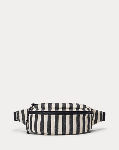 Striped Canvas Bum Bag