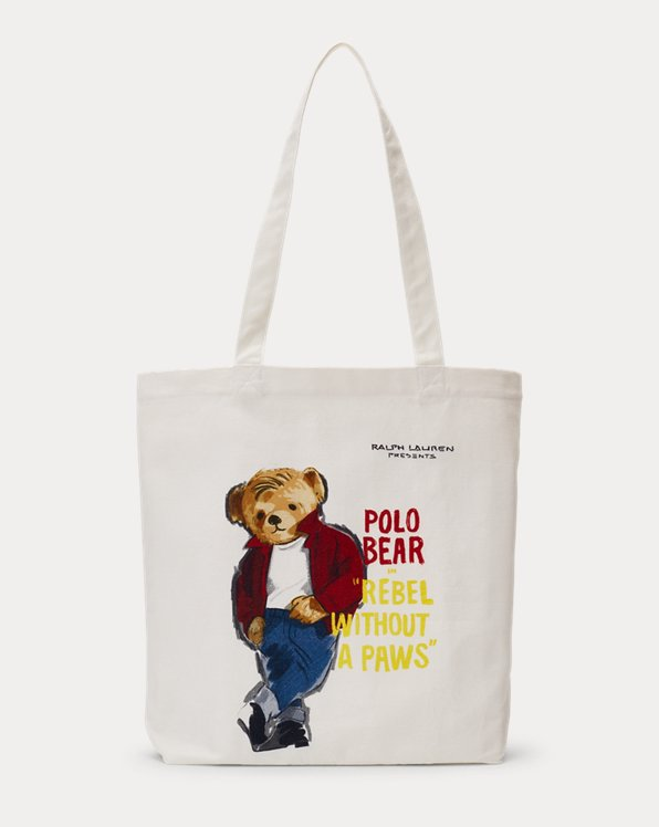 Cabas Polo Bear en toile