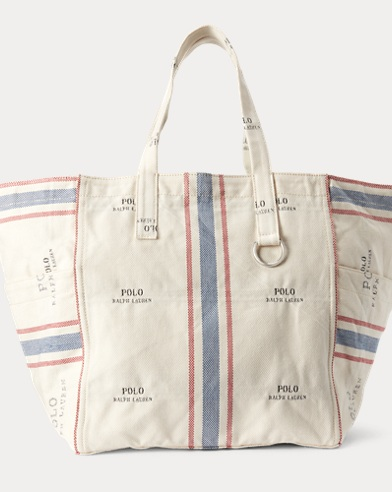 44923859619c Polo Laundry-Stripe Tote Bag. NEW ARRIVAL. Polo Ralph Lauren