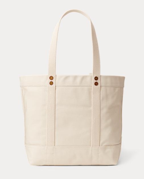 9a7f80a8ca957 Polo Bear Canvas Tote Bag