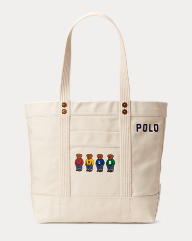 Polo Bear Canvas Tote Bag