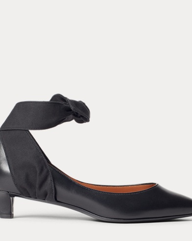 Sabryna Leather Ankle-Tie Pump