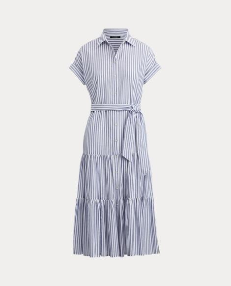 1a07c80648ce Tiered Cotton Shirtdress