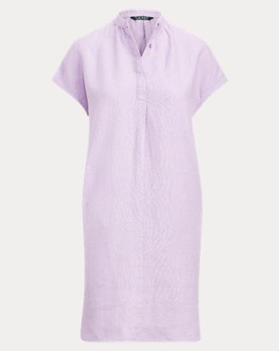 Vestido recto de lino