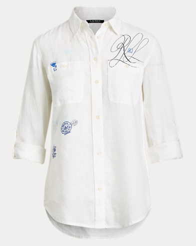 53b6c7412 Lauren. Lace-Patch Linen Shirt. $145.00. Save to Favorites · Print Linen  Shirt