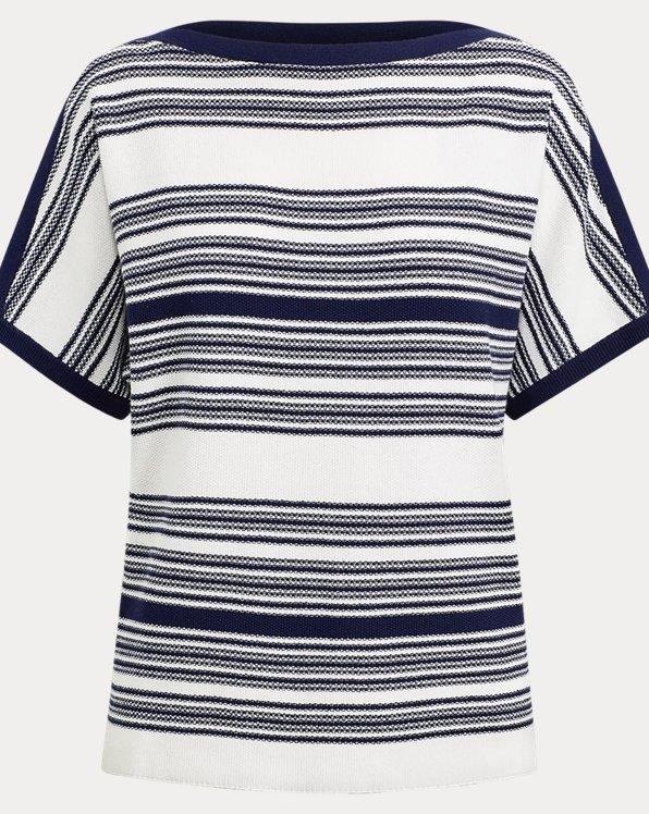 Striped Linen-Blend Jumper