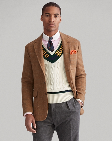 Check Herringbone Sport Coat