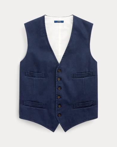Stretch Cotton Chino Waistcoat