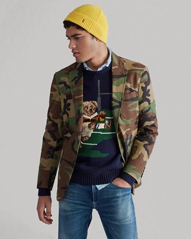Camouflage-Sakko aus Baumwolle