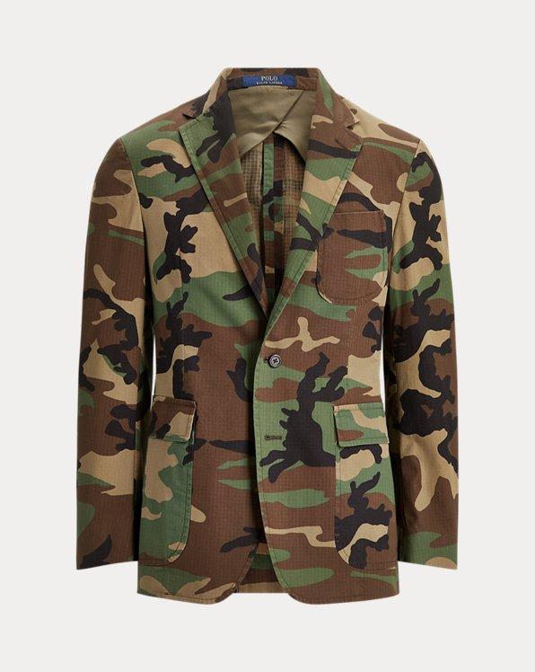 Giacca in ripstop di cotone camouflage