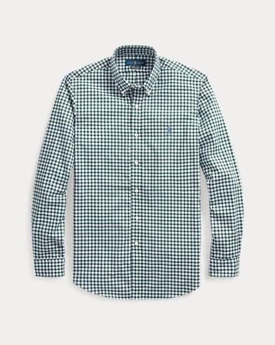 Kariertes Custom-Fit Popelinehemd