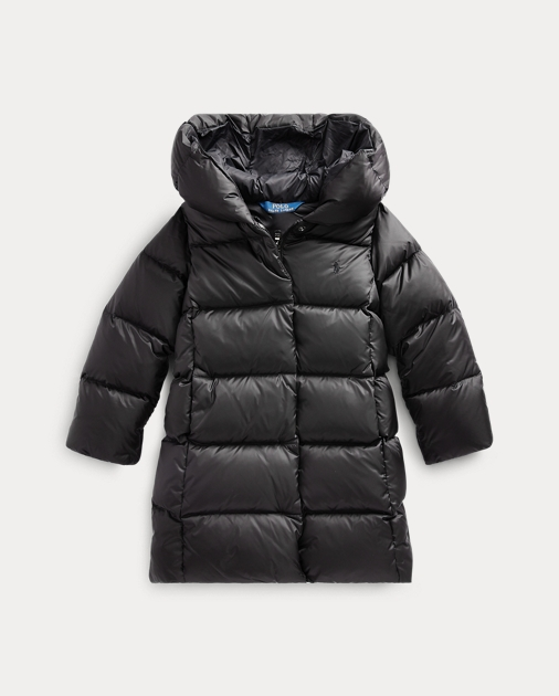 Girls 2-6x Quilted Down Long Coat 1