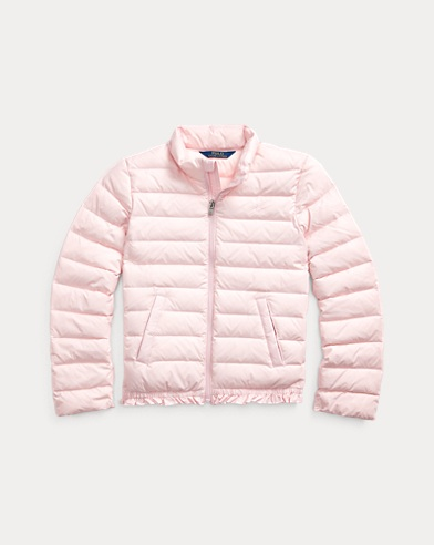 Ruffled Quilted Down Jacket