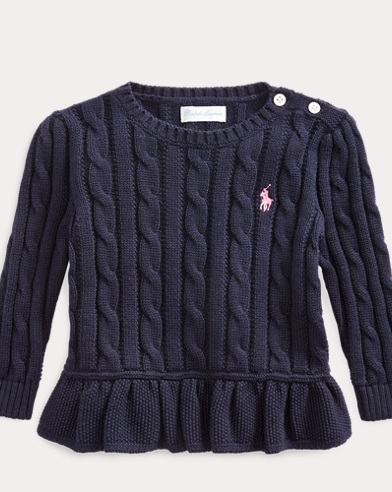 Cable-Knit Peplum Jumper