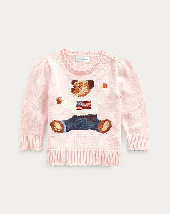 Jersey de algodón con Polo Bear