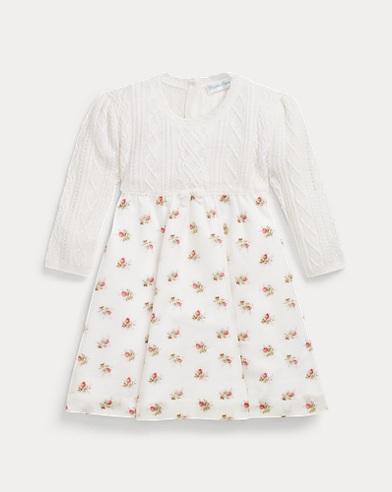 Aran-Knit Jumper Dress
