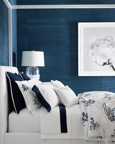 Blanc Bleu Bedding Collection