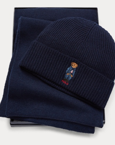 Jean Jacket Bear Hat & Scarf