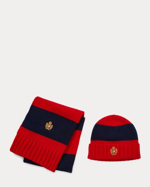 2c0d5606 Polo Ralph Lauren Striped Hat & Scarf Gift Set 2
