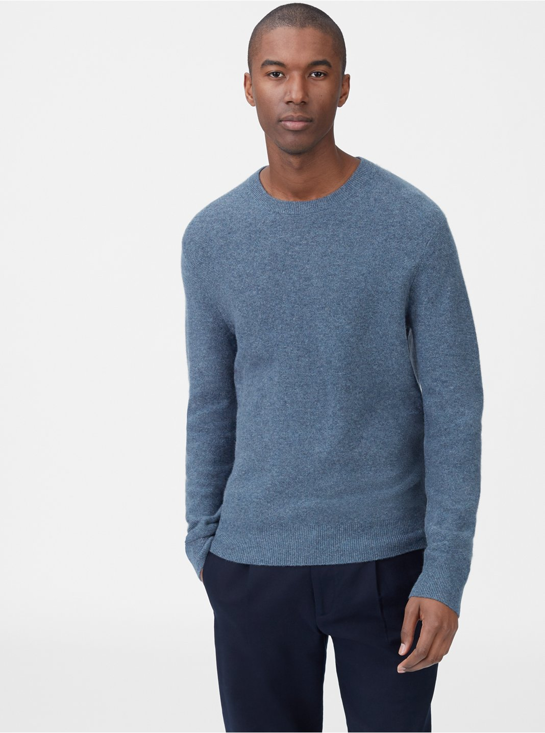 Cashmere Links Crew Sweater
