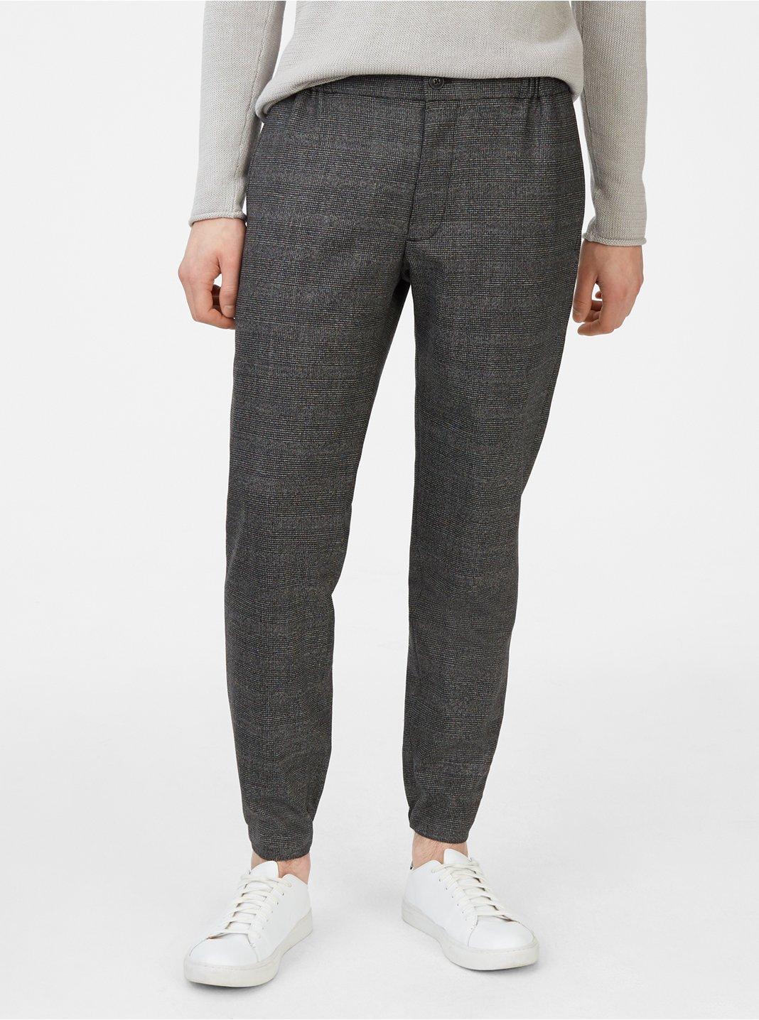 Lex Houndstooth Linen Trouser