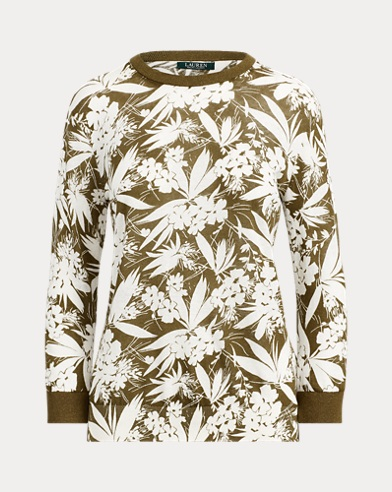 Botanical-Print Jumper