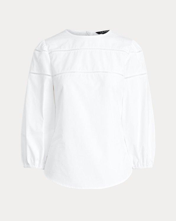 Baumwollhemd mit Gitterdetail