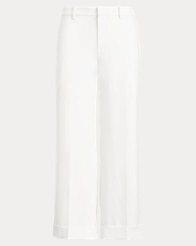 Twill Wide-Leg Trouser