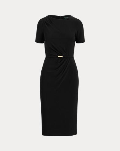 Belted Short-Sleeve Dress