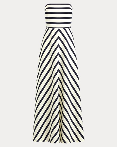 Striped Faille Gown
