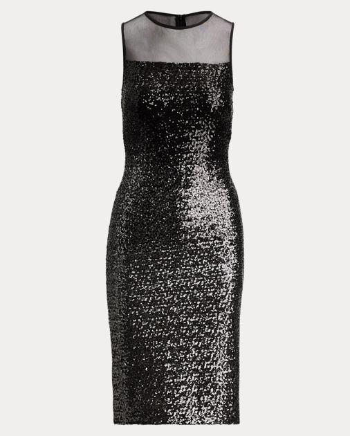 Sequinned Cocktail Dress by Ralph Lauren