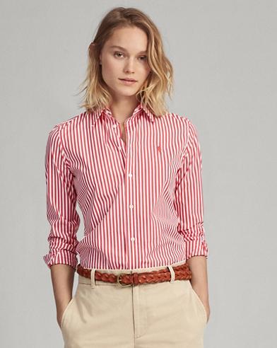 Stretch Slim Fit Striped Shirt