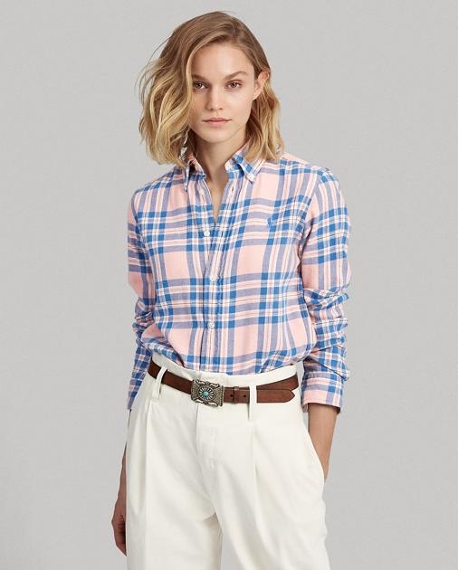 Polo Ralph Lauren Camisa de sarga a cuadros Classic Fit  1