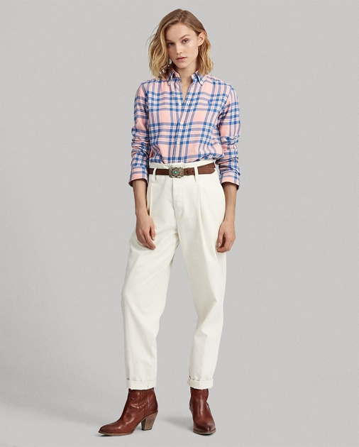 Polo Ralph Lauren Camisa de sarga a cuadros Classic Fit  3