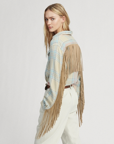 Big Fit Fringe-Trim Shirt
