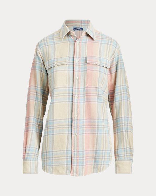 Camisa con ribete de flecos Big Fit
